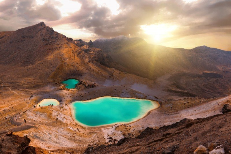 Tongariro endroits naturels Nouvelle-Zélande