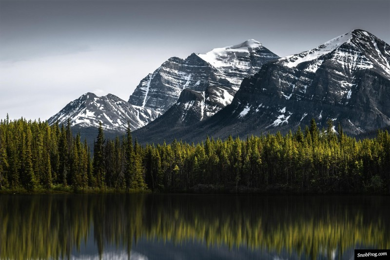rocheuses canadiennes pvtistes moraine lake herbert lake