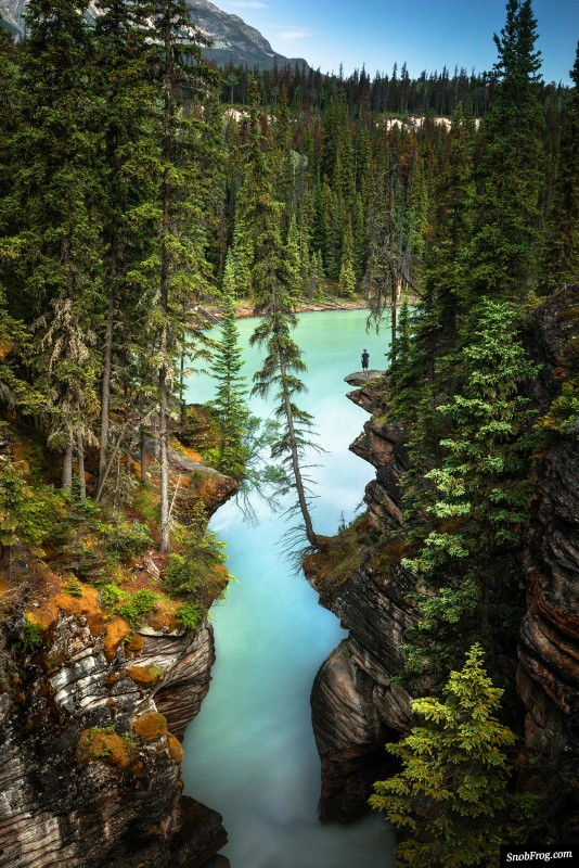 rocheuses canadiennes pvtistes athabasca falls