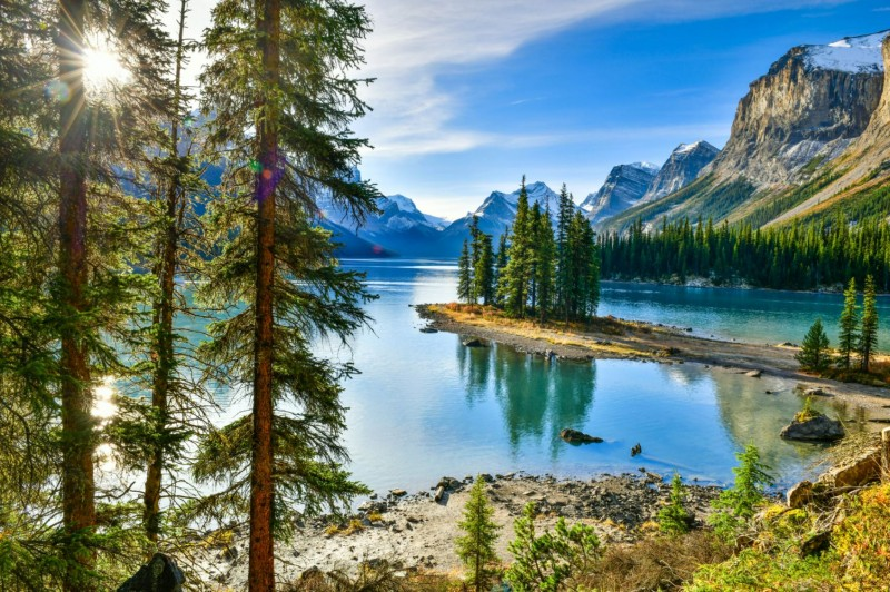 rocheuses canadiennes pvtistes lake louise Maligne lake