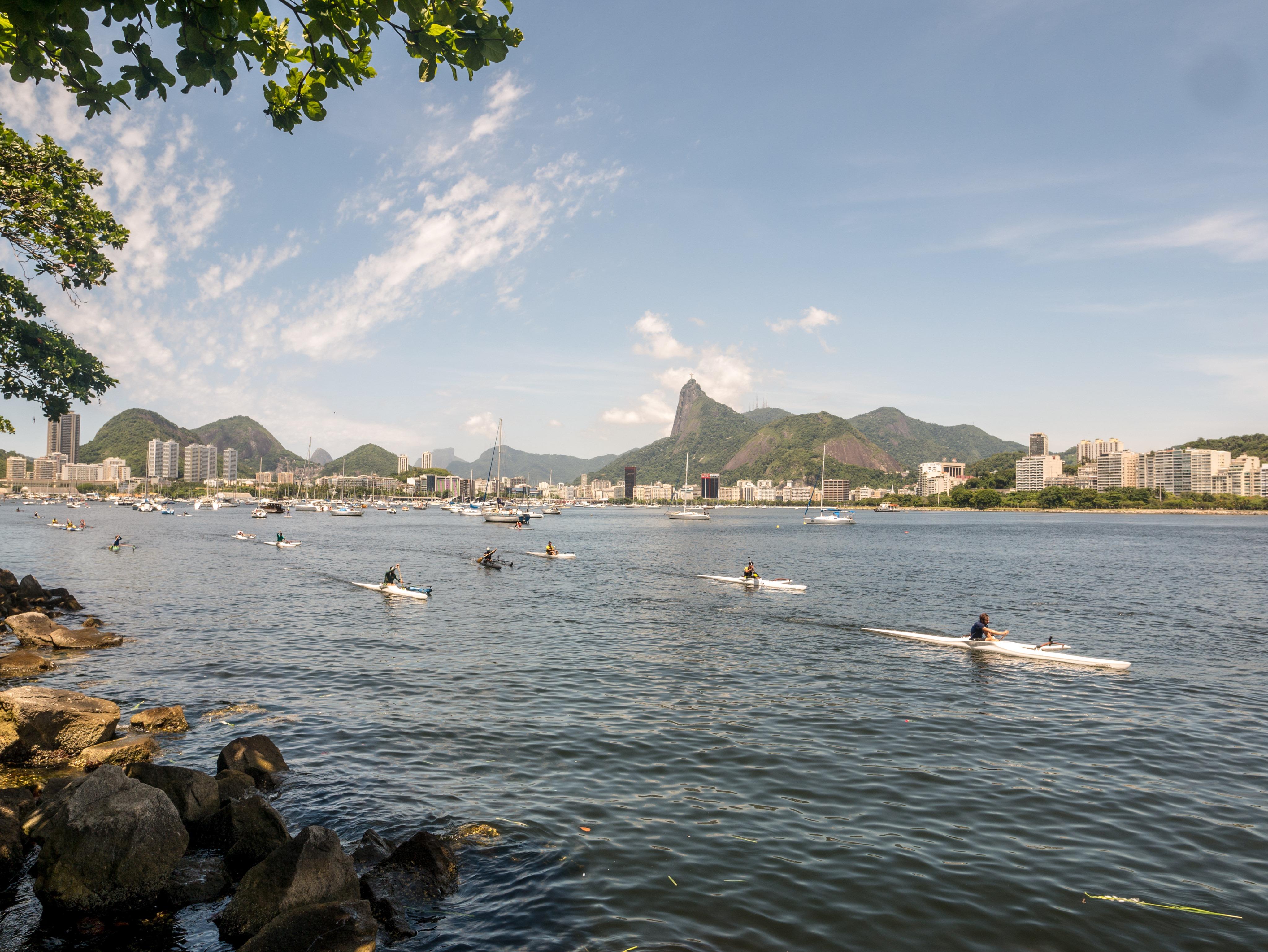 Vue de Rio depuis quartier d'Urca